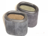 Leather Dice Cups, Oval Black Suede
