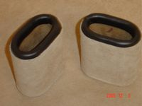 Leather Dice Cups, Oval Cream Suede