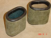 Leather Dice Cups, Oval Green Suede