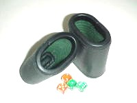 Leather Dice Cups, Oval Black